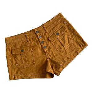 AMERICAN EAGLE SZ 8 tan Tom Girl Shortie shorts